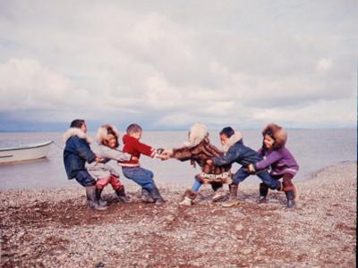 Native Alaskan Children at Play