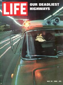 Our Deadliest Highways, Ambulance Speeding Car Accident Victim to Hospital, May 30, 1969 by Ralph Crane