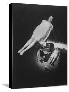 Patient in Deep Hypnotic Trance, Appearance of Floating in Space, Observing Dr. Bernard C. Gindes by Ralph Crane