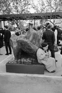 Patron Attending the Los Angeles Museum of Art Opening, 1965 by Ralph Crane