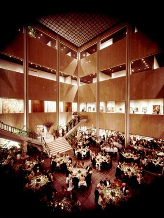 Patrons Attending the Los Angeles Museum of Art Opening. Los Angeles, 1965 by Ralph Crane