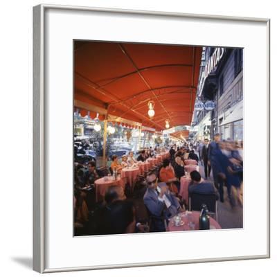 Rome's Cafe De Paris on Via Veneto, a Favorite After-Hours Sitting Spot for Natives and Tourists