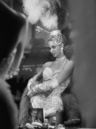 Showgirl Standing in the Dressing Room of the Stardust Hotel by Ralph Crane