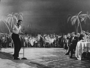 Singer Harry Belafonte Performing at the Coconut Grove Nightclub by Ralph Crane