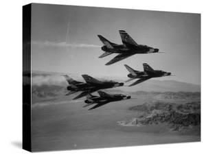 Thunderbirds in F-100's Flying in Formation by Ralph Crane