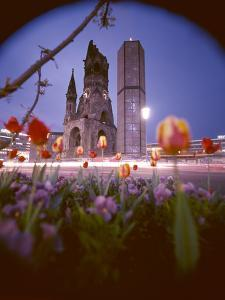 Wwii Ruins of the Kaiser Wilhelm Memorial Church (The Gedachtniskische), Berlin, Germany by Ralph Crane