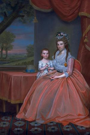 Mrs. Elijah Boardman and Her Son, William Whiting Boardman, C.1796