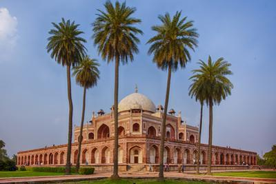 India. Exterior view of Humayun's Tomb in New Delhi. by Ralph H^ Bendjebar