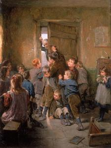Barred Out (29th May), 1896 by Ralph Hedley