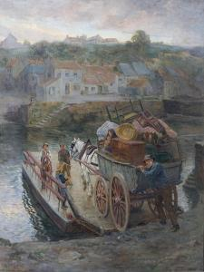 Crossing Hylton Ferry, 1912 by Ralph Hedley