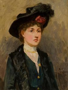 Elsie Wright, 1902 by Ralph Hedley