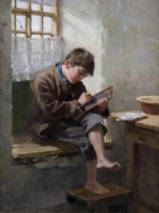Home Lessons, 1887 by Ralph Hedley