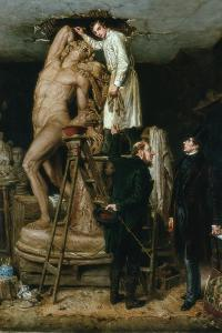 John Graham Lough in His Studio, 1881 by Ralph Hedley