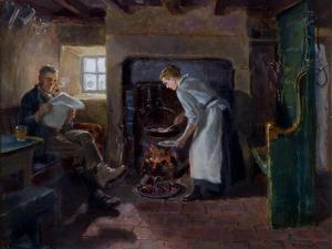 Meal Time, 1895 by Ralph Hedley