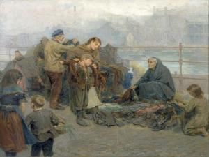 Paddy's Clothes Market, Sandgate, 1898 by Ralph Hedley
