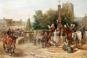 Proclaiming Stagshaw Fair at Corbridge by Ralph Hedley