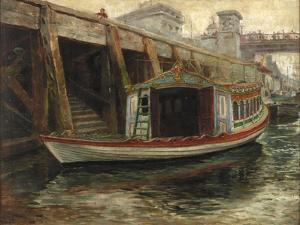 Sketch for 'The Lord Mayor's Barge', 1891 by Ralph Hedley