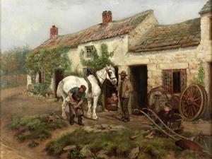 Smithy, Hexham Bridge End, 1885 by Ralph Hedley