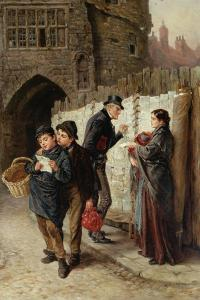 The Ballad Seller, the Black Gate, 1884 by Ralph Hedley