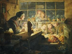 The Village Sweet Shop, 1897 by Ralph Hedley
