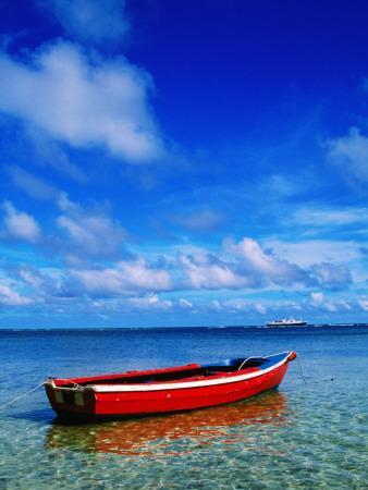 Small Boat at Anchor