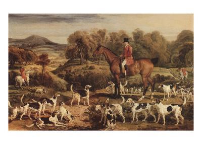 Ralph Lambton and His Hounds, 1820-James Ward-Giclee Print