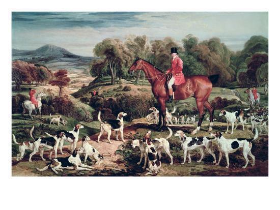 Ralph Lambton and His Hounds-James Ward-Giclee Print