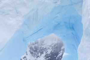 A Close Up of an Iceberg Near Cuverville Island, Antarctica by Ralph Lee Hopkins