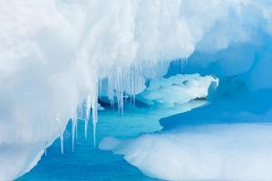 A Close Up of Icicles on an Iceberg in Gerlach Strait, Antarctica by Ralph Lee Hopkins