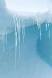 A Close Up of Icicles on an Iceberg Near Cuverville Island, Antarctica by Ralph Lee Hopkins
