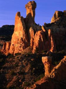 Chimney Rock Capped by the Todilto Formation, Ghost Ranch, New Mexico, USA by Ralph Lee Hopkins