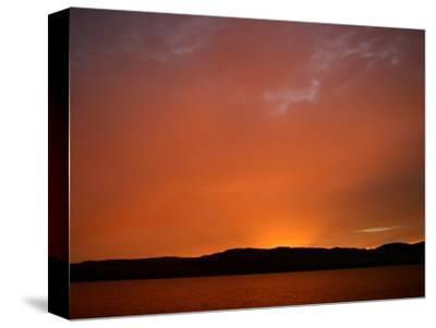 Colorful Sunset in Chatam Strait, Alaska
