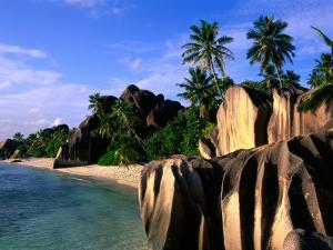 Eroded Granite Formations on Beach, Anse Source D'Argent, Seychelles by Ralph Lee Hopkins