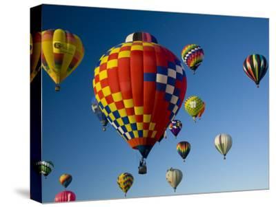 Hot Air Balloons in a Hot Air Balloon Festival, Albuquerque, New Mexico, USA