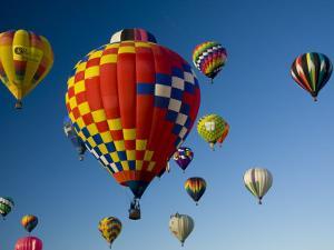 Hot Air Balloons in a Hot Air Balloon Festival, Albuquerque, New Mexico, USA by Ralph Lee Hopkins