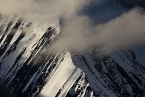 Mount Mckinley's Pioneer Ridge Covered in Snow by Ralph Lee Hopkins