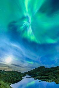 Northern Lights over Tasiilaq Fjord. by Ralph Lee Hopkins