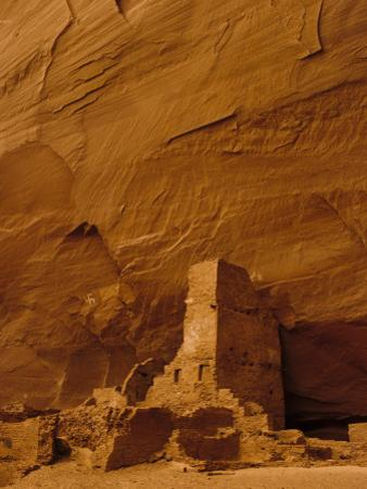 Pueblo Indian Antelope House Ruins at the Base of a Cliff by Ralph Lee Hopkins