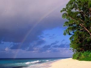 Rainbow Over Sea and Island, Seychelles by Ralph Lee Hopkins