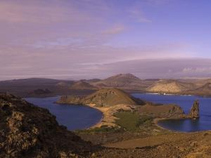 Scenic View of a Crater-Type Lake in the Galapagos Islands by Ralph Lee Hopkins