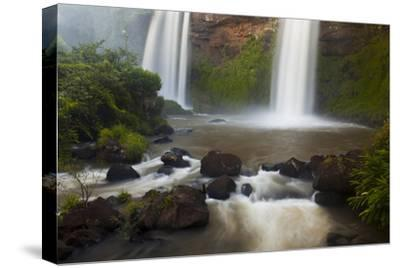 Small Cascades End in a Pool at Iguazu Falls