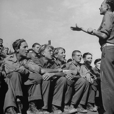 1945: Emil Kimmich Former German Army Captain and Singing Choir of Teen Prisoners, Attichy, France