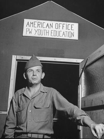1945: Us Army Pfc Francis Tourtillot at Continental Central Pow Enclosure 15, Attichy, France