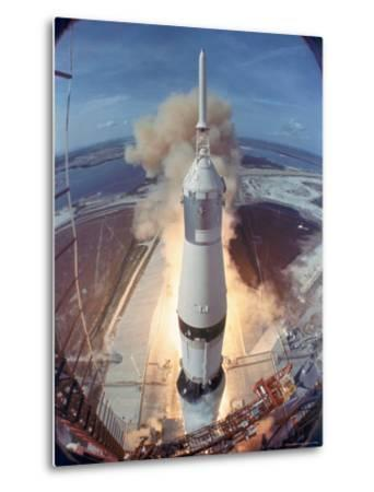 Apollo 11 Taking Off For Its Manned Moon Landing Mission
