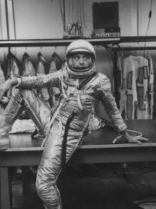 Astronaut Alan B. Shepard in Space Clothing by Ralph Morse