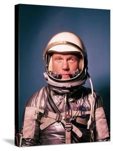 Astronaut John Glenn in a Mercury Program Pressure Suit and Helmet by Ralph Morse