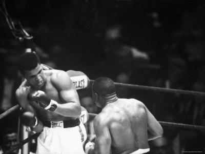 Cassius M. Clay and Sonny Liston During World Championship Fight
