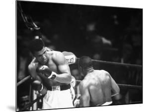 Cassius M. Clay and Sonny Liston During World Championship Fight by Ralph Morse