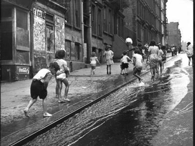 Children Playing on 103rd Street in Puerto Rican Community in Harlem
