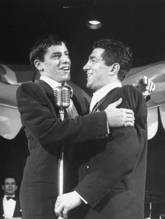Comedian Jerry Lewis Singing with His Partner Dean Martin, at the Copacabana
